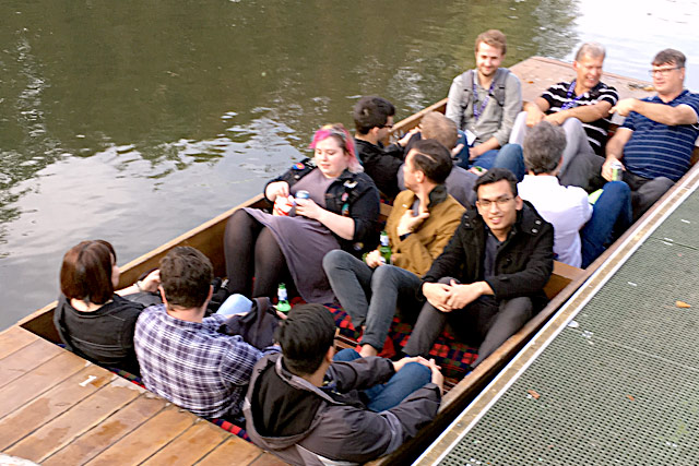 Punting on the Cam - a popular social activity